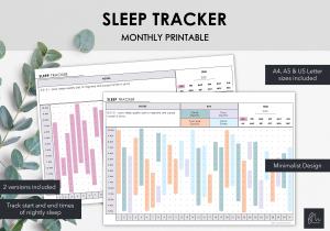 LiveMinimalPlanners Sleep Tracker