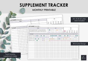 LiveMinimalPlanners Supplement Tracker