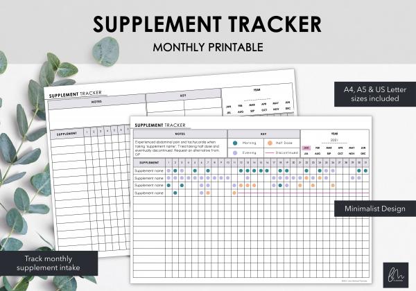 LiveMinimalPlanners Supplement Tracker