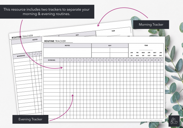 LiveMinimalPlanners Daily Routine Tracker