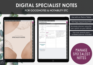 LiveMinimalPlanners Digital Specialist Notes Planner Abstract Cover