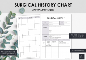 LiveMinimalPlanners Surgical History Minimalist