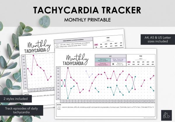 LiveMinimalPlanners Tachycardia Tracker