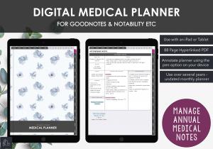 LiveMinimalPlanners Digital Medical Planner