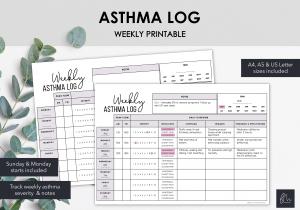 LiveMinimalPlanners Asthma Log