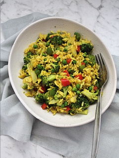 Easy Curried Fried Rice with Vegetables 1